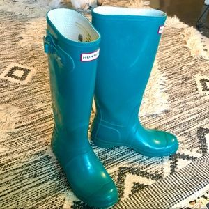 Tall Hunter Rain Boots! Teal Green